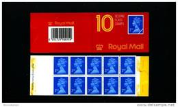 GREAT BRITAIN - 10 X 2nd Class (Harrison)  PALE  BOOKLET MINT NH  HC 1 - Booklets