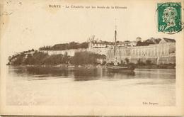 Dép 33 - Bateaux - Blaye - La Citadelle Sur Les Bords De La Gironde - état - Blaye