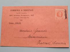 COMMERCE & INDUSTRIE Av. Brugmann 387 Uccle Bruxelles Tél 498,69 - Anno 19?? > Frasnes (Couvin) ( Zie Foto Details ) !! - Commerce