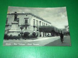 Cartolina Corato - Monumento Imbriani - Corso Mazzini 1960 Ca - Bari