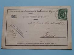 Administration COMMUNALE De BOUSSU-en-Fagne (Avertissement) Anno 1937 > Frasnes ( Zie Foto Details ) !! - Commerce