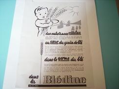 ANCIENNE PUBLICITE BLEDINE POUR BEBE 1934 - Posters