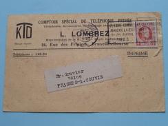 L. LOMBREZ Rue Des Fripiers Bruxelles ( KTO ) Anno 1923 > Frasnes-lez-Couvin ( Zie Foto Details ) !! - Commerce