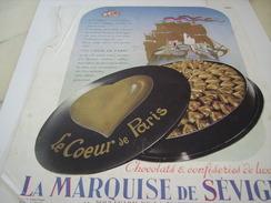 ANCIENNE PUBLICITE CHOCOLATS LA MARQUISE DE SEVIGNE 1937 - Posters