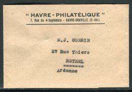 """France - Bande Journal Du """" Havre Philatélique """" Pour Rethel En 1946, Oblitération """" Journaux PP """" Au Verso -  Ref  J 5 - 1921-1960: Periodo Moderno"""
