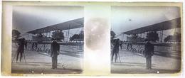 TRES RARE!!    7 MARS 1911 Plaque Photo AVIATION Grand Prix Michelin Aviation André Michelin - Plaques De Verre