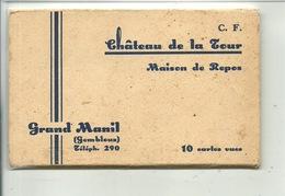 Grand Manil Château De La Tour ( Gembloux ) Pochette De 10 Cartes - Gembloux