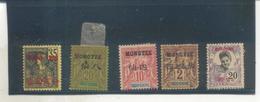 Lot De Timbres Mongtze - Mong-tzeu (1906-1922)