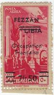 Colonie Française, Variété, Fezzan Poste Aérienne N° 2 A ** ( Papier Sulfurisé + Gomme Colo ) 2 Barres Au Lieu De 3 TB - Fezzan (1943-1951)