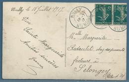 CPA - CACHET : NULLY (HAUTE MARNE) Sur Carte Postale FANTAISIE - 1877-1920: Periodo Semi Moderno