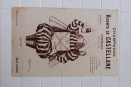 BUVARD CHAMPAGNE VICOMTE DE CASTELLANE, EPERNAY, CAPPIELLO - Buvards, Protège-cahiers Illustrés