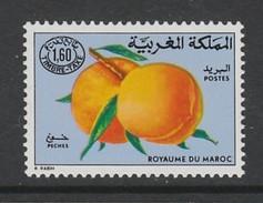 TIMBRE NEUF DU MAROC - FRUITS : PECHES N° Y&T TAXE 68 - Frutta