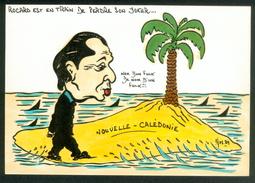 Illustrateur Jos  -  Rocard Est En Train De Perdre Son Joker... - Autres Illustrateurs