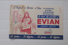 BUVARD EVIAN, SOURCE CACHAT - Buvards, Protège-cahiers Illustrés