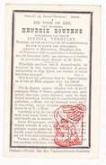 DP Hendrik Boutens ° Molendorp Bredene 1833 † Leffinghe Leffinge Middelkerke 1885 X Justina Verhulst - Images Religieuses