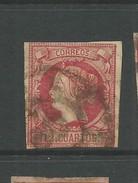 Spain 1860 12 C Carmine On Buff Good Used - Oblitérés