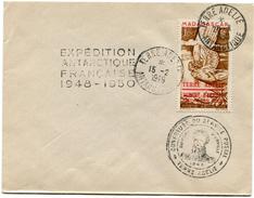 T.A.A.F LETTRE AFFRANCHIE AVEC LE PA 1 AVEC CACHET EXPEDITION ANTARCTIQUE FRANCAISE 1948-1950 + CACHET OUVERTURE DU..... - Terres Australes Et Antarctiques Françaises (TAAF)