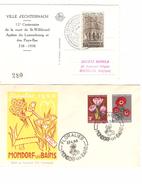 Grand Duché De Luxembourg FDC 1956 TP Fleurs Mondorf Les Bains&Echternach 1938 Mort De St.Willibrord AP1071 - FDC