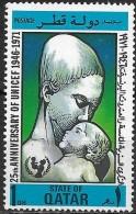 QATAR 1971 25th Anniv Of UNICEF -1d. - Mother And Child MH - Qatar