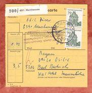 Paketkartenteil, MeF Soest, Merzhausen Nach Bad Bertrich 1967 (38463) - Covers & Documents