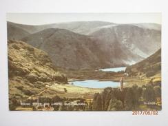Postcard Glendalough Co Wicklow Round Tower & Lakes By Valentine's My Ref B11256 - Wicklow