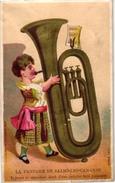 8 Trade Cards Music Instruments Pub Musique Emile Marchand Bordeaux Pascal Juzans Impr.Aubry - Chromos