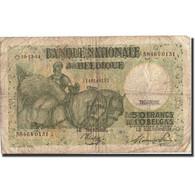 Belgique, 50 Francs-10 Belgas, 1944, KM:106, 1944-12-19, B - [ 6] Treasury