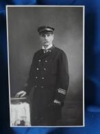 Carte Photo  Pages à Agde  Homme En Uniforme De Sauveteur (Anselme 1924) - L315 - Fotografie