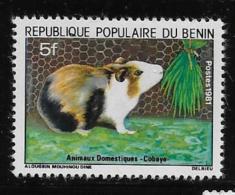 BENIN, 1981  SCOTT #510,  GUINEE PIG  Mint With Very Light Hing Mark - Bénin – Dahomey (1960-...)