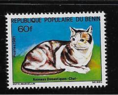 BENIN, 1981  SCOTT #511,  CATS   Mint With Very Light Hing Mark - Bénin – Dahomey (1960-...)