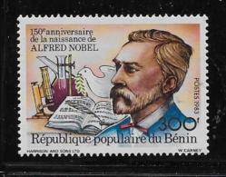 BENIN, 1983  SCOTT # 567  100th Anniv Of Birth Of Alfred Nobel  Mint With Light Mark Of Hing - Bénin – Dahomey (1960-...)