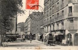 PARIS RUE DES GATINES A L'AVENUE GAMBETTA - Arrondissement: 20