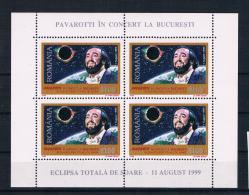 Rumänien 1999 Sonnenfinsternis Mi.Nr. 5425 Kleinbogen ** - 1948-.... Républiques