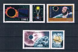 Rumänien 1998/99 Sonnenfinsternis Mi.Nr. 5365/420/25 ** - 1948-.... Republiken