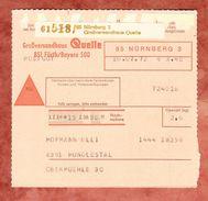 Paketkartenteil, Nachnahme, MiF Brandenburger Tor + Heinemann, Nuernberg Nach Hunoldstal, AK-Stempel 1972 (38473) - Covers & Documents