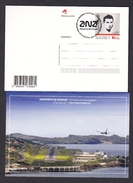 PORTUGAL 2017 POSTAL STATIONERY FUNCHAL AIRPORT AND CRISTIANO RONALDO FOOTBAL REAL MADRID STAMP - Postal Stationery