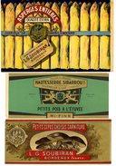 PUBLICITES DE CONSERVES ALIMENTAIRES  LOT15 CHROMOS FIN XIX°  CHAMPIGNON ASPERGE CASSOULET PETITS POIS MACEDOINE TOMATE - Advertising