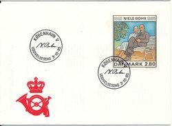 Denmark FDC Niels Bohr 1885 - 3-10 -1985 - FDC