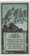 POSTCARD - COPY OF THE FRONT OF ORIGINAL TOURIST MAP 1920 - SNOWDON - Ordnance Survey - Pays De Galles