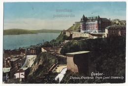 Quebec QC Canada, Chateau Frontenac View From Laval University C1910s Vintage Old Postcard - Québec - Château Frontenac