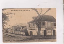 CPA ST LAURENT, RUE DE L EGLISE ET GRAND RUE En 1937! - Saint Laurent Du Maroni