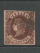 Spain 1862 4c  Deep Chocolate. - Oblitérés