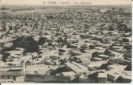 Cpa SYRIE  ALEP Vue Générale  Rare !!! - Cartes Postales