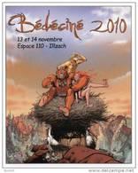 BEDECINE 2010 ILLZACH MOURIER : Autocollant Adhésif  TROLLS DE TROY     Rare - Zelfklevers