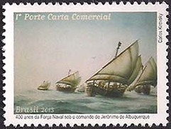 BRAZIL 2013 SHIPS BOATS NAVAL FORCE JERONIMO ALBUQUERQUE PAINTING - Unused Stamps