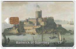 GUERNSEY ISL. - Castle Cornet/Painting By J.Knyff, Tirage 6748, Used - United Kingdom
