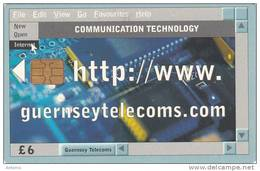 GUERNSEY ISL. - Telecom Service 2/Internet, Chip Siemens 35, Used - United Kingdom