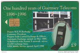 GUERNSEY ISL. - 100 Years Of Guernsey Telecoms 3, Tirage 9000, Used - United Kingdom