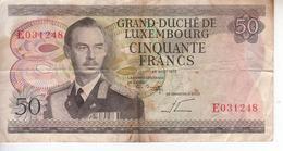 Grand Duché De Luxembourg - 50 Francs - 25 Août 1972 - Luxembourg