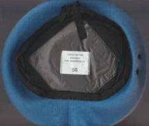 Bérèt Bleu Clair Nation Unies - United Nations C.W. Headdress LTD.  56 - Casques & Coiffures